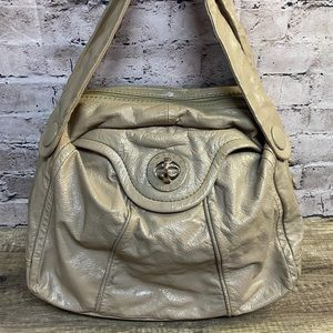 Marc Jacobs patent leather shoulder tote tan
